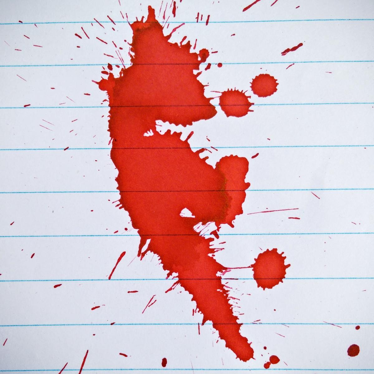 Camlin Scarlet Red - Ink Splash on Bilt Matrix - 70 gsm